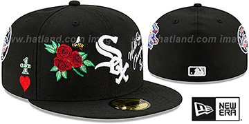 White Sox 'CHAMPS-N-ROSES' Black Fitted Hat by New Era
