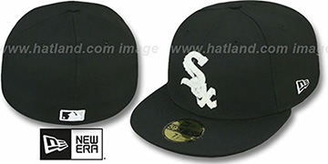 White Sox 'CHENILLE APPLIQUE' Black Fitted Hat by New Era