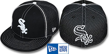 White Sox CONTRAST BP-MESH Black Fitted Hat by New Era