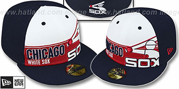 White Sox COOP 'FOUL BALL' White-Navy Fitted Hat by New Era