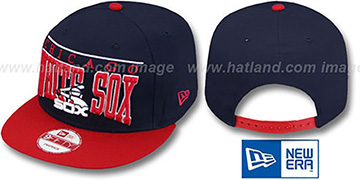White Sox COOP LE-ARCH SNAPBACK Navy-Red Hat by New Era