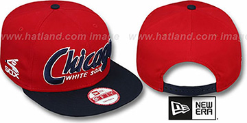 White Sox COOP 'SNAP-IT-BACK SNAPBACK' Red-Navy Hat by New Era