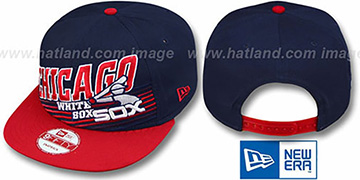 White Sox COOP STILL ANGLIN SNAPBACK Navy-Red Hat by New Era