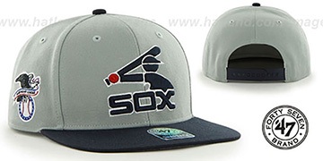 White Sox COOP 'SURE-SHOT SNAPBACK' Grey-Navy Hat by Twins 47 Brand