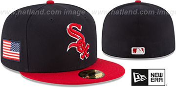 White Sox COUNTRY COLORS Navy-Red Fitted Hat by New Era