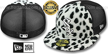 White Sox DALMATION ANIMAL-FUR MESH-BACK Fitted Hat by New Era