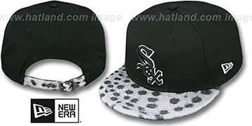 White Sox DALMATION ANIMALISTIC-FUR VIZA STRAPBACK Hat by New Era