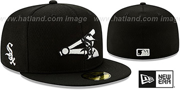 White Sox DASHMARK BP Black Fitted Hat by New Era