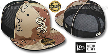 White Sox DESERT STORM MESH-BACK Fitted Hat by New Era