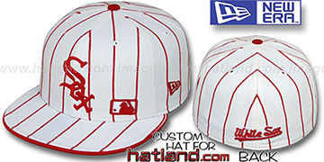 White Sox FABULOUS White-Red Fitted Hat by New Era