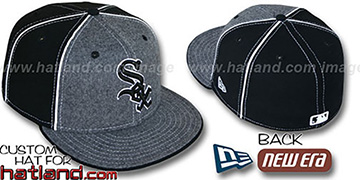 White Sox FLANNEL 'PINWHEEL-2' Grey-Black Fitted Hat
