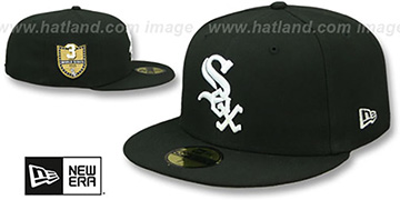 White Sox 'GOLDEN-HIT' Black Fitted Hat by New Era