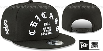 White Sox 'GOTHIC-ARCH SNAPBACK' Black Hat by New Era