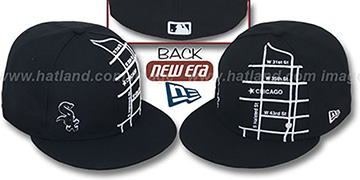 White Sox 'GPS' Black-White Fitted Hat by New Era