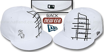 White Sox 'GPS' White-Black Fitted Hat by New Era