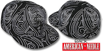 White Sox 'HENNA TATTOO' Black-White Fitted Hat by American Needle