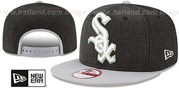 White Sox LOGO GRAND SNAPBACK Charcoal-Grey Hat by New Era