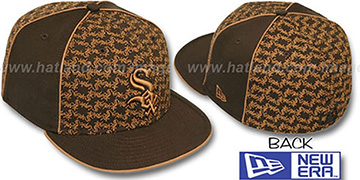 White Sox LOS-LOGOS Brown-Wheat Fitted Hat by New Era