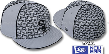 White Sox LOS-LOGOS Grey-Black Fitted Hat by New Era