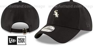 White Sox 'MINI GOLD METAL-BADGE STRAPBACK' Black Hat by New Era