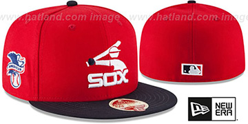 White Sox MLB COOPERSTOWN WOOL-STANDARD Red-Navy Fitted Hat by New Era