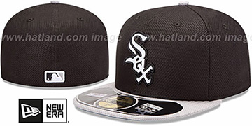 White Sox 'MLB DIAMOND ERA' 59FIFTY Black-Grey BP Hat by New Era