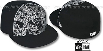 White Sox MLB-FOIL Black-Silver Fitted Hat by New Era