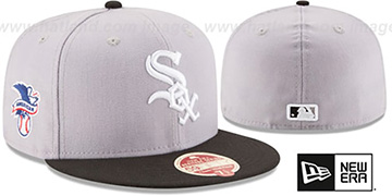White Sox 'MLB WOOL-STANDARD' Grey-Black Fitted Hat by New Era