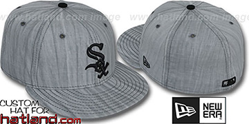 White Sox 'MUD-PRINT' Grey Fitted Hat by New Era
