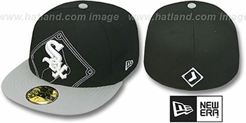 White Sox 'NEW MIXIN' Black-Grey Fitted Hat by New Era