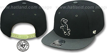 White Sox NIGHT-MOVE SNAPBACK Adjustable Hat by Twins 47 Brand