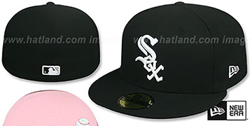 White Sox PINK-BOTTOM Black Fitted Hat by New Era