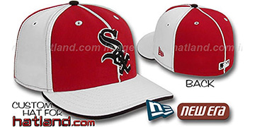 White Sox 'PINWHEEL-3' Red-White Fitted Hat by New Era