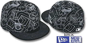 White Sox PUFFY REMIX Black-White Fitted Hat by New Era