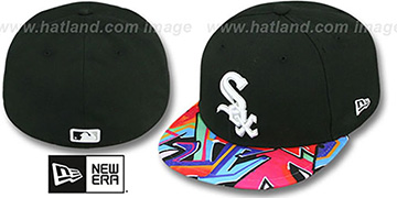 White Sox 'REAL GRAFFITI VIZA-PRINT' Black Fitted Hat by New Era