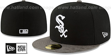 White Sox RUSTIC-VIZE Black-Grey Fitted Hat by New Era