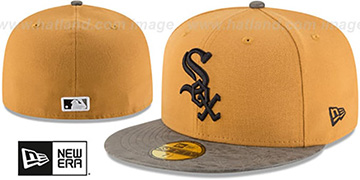 White Sox 'RUSTIC-VIZE' Wheat-Grey Fitted Hat by New Era
