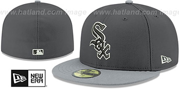 White Sox 'SHADER MELT-2' Grey-Grey Fitted Hat by New Era