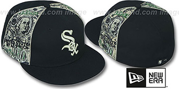 White Sox SHOWMEDA$ Black-Money Fitted Hat by New Era
