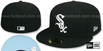 White Sox 'SKY-BOTTOM' Black Fitted Hat by New Era