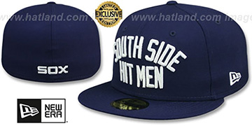 White Sox SOUTH SIDE HITMEN Navy Fitted Hat by New Era