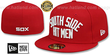 White Sox 'SOUTH SIDE HITMEN' Red Fitted Hat by New Era