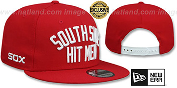 White Sox SOUTH SIDE HITMEN SNAPBACK Red Hat by New Era