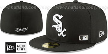 White Sox Sox FLAWLESS PINNED-UP Black Fitted Hat by New Era
