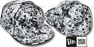 White Sox 'SPLATTER' White-Black Fitted Hat by New Era