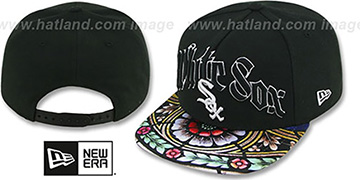 White Sox 'STAIN GLASS SNAPBACK' Black Hat by New Era