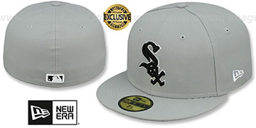 White Sox 'TEAM-BASIC' Grey-Black-White Fitted Hat by New Era