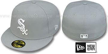 White Sox 'TEAM-BASIC' Grey-White Fitted Hat by New Era
