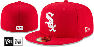 White Sox 'TEAM-BASIC' Red-White Fitted Hat by New Era