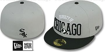 White Sox TEAM-PRIDE Grey-Black Fitted Hat by New Era